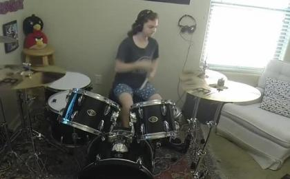 "Royal Blood ""Figure It Out"" A Drum Cover by Emily"